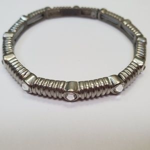 Lia Sophia Silver Stretch Bracelet
